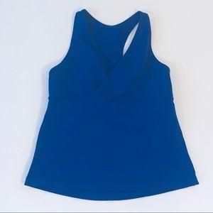 Lululemon small blue deep V athletic tank